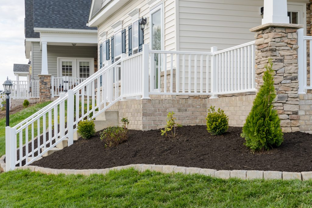 plantings on side of home